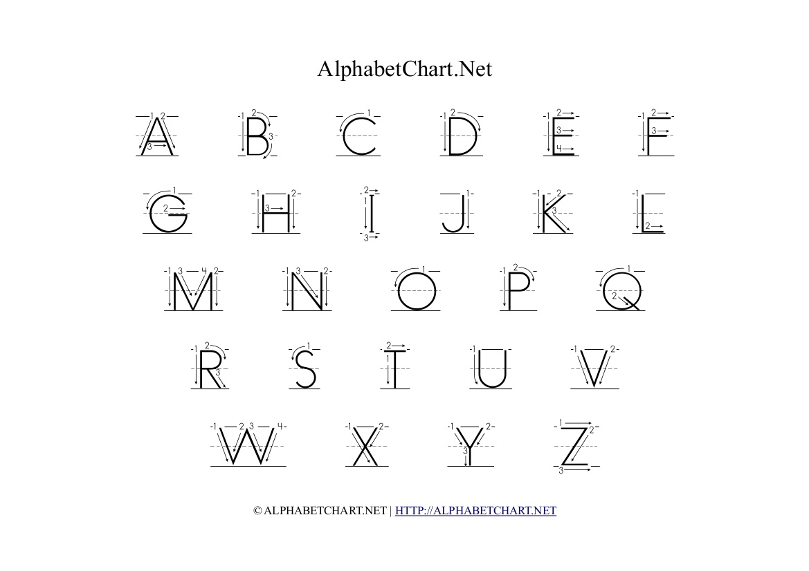 Alphabet Of Arrows – Thestrangemythworld regarding Alphabet Tracing With Arrows