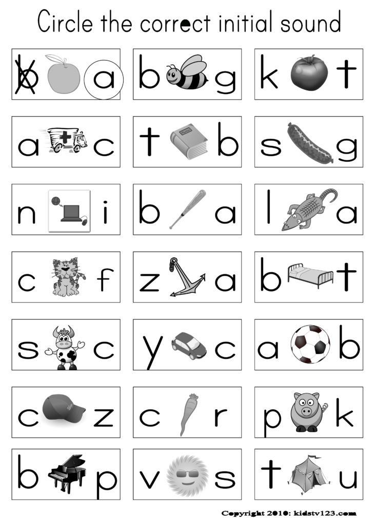 Alphabet & Phonics Worksheets   Free   Phonics Kindergarten Inside Worksheets Alphabet And Phonics