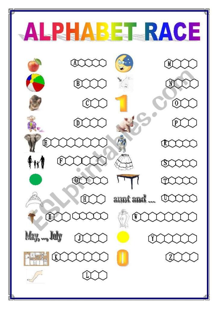 Alphabet Race   Kids Grade 2   Esl Worksheetpawag Throughout Alphabet Worksheets Grade 2