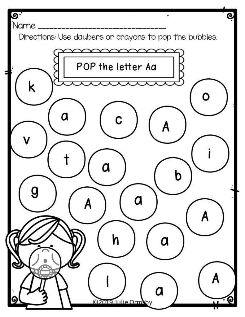 Alphabet Recognition Activity Worksheets Bingo Daubers, *no Throughout Alphabet Worksheets For 2Nd Grade