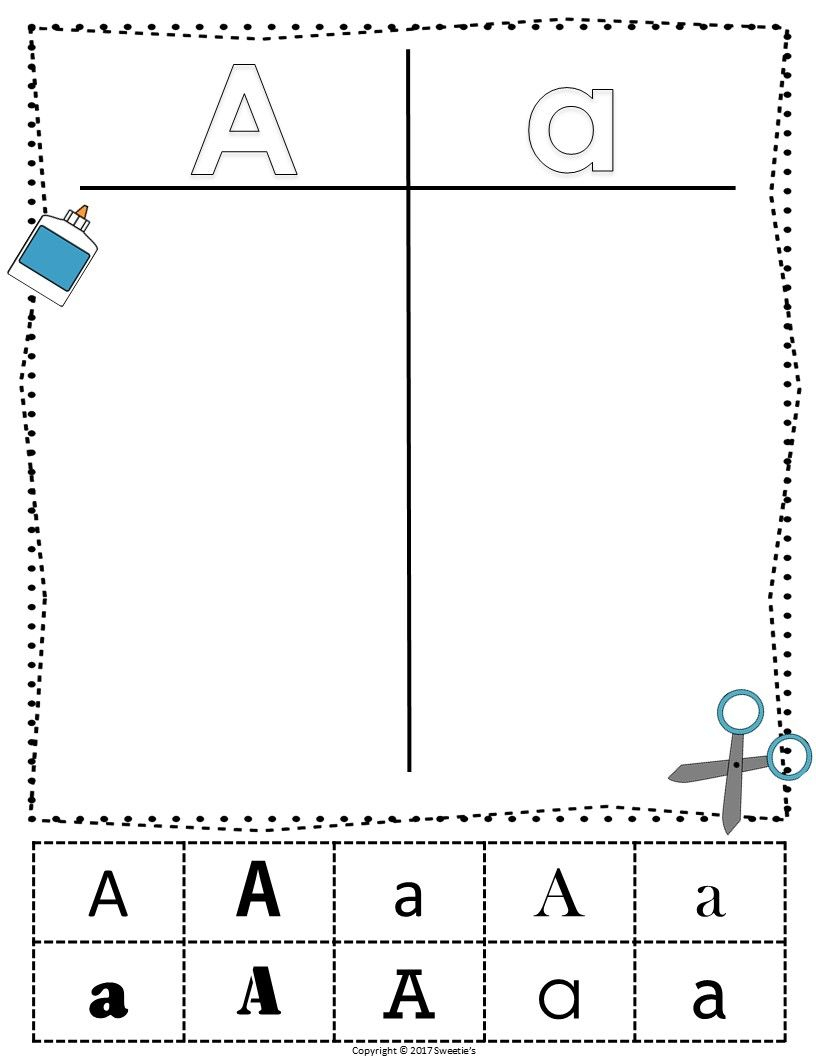 Alphabet Sorting Worksheets - 4 Sets From Sweetie's with Alphabet Sorting Worksheets