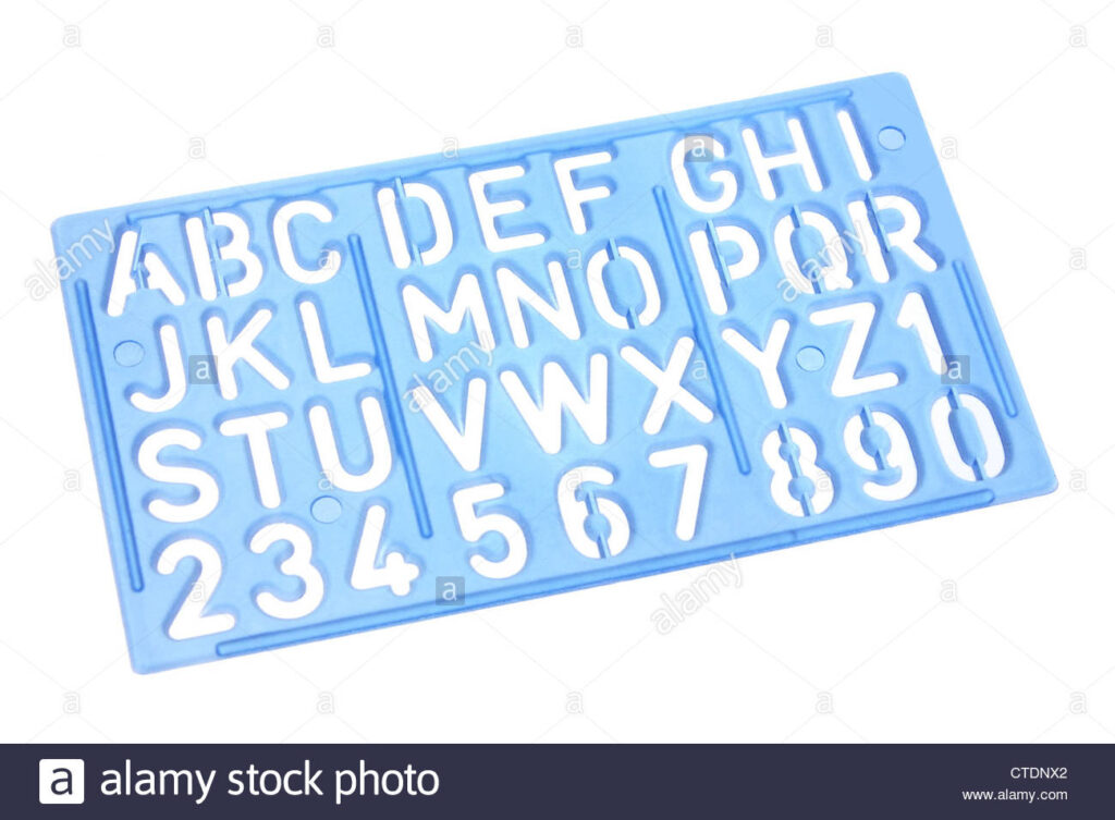 Alphabet Stencil Stock Photo   Alamy Within Alphabet Tracing Ruler
