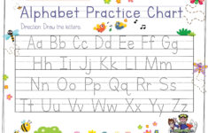 Alphabet Tracing For Preschoolers | The Preschool Adventures with regard to Alphabet Tracing Chart Printable