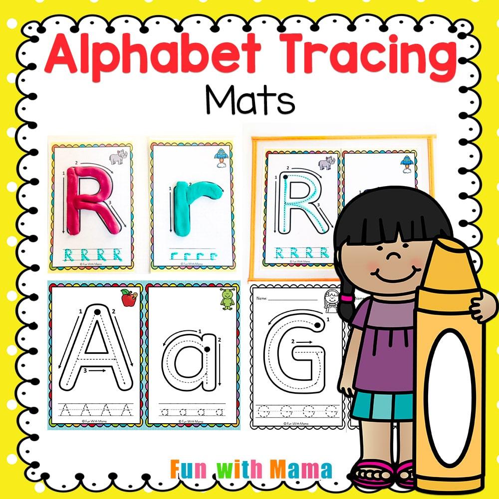 Alphabet Tracing Mats - Play Dough Mats intended for Alphabet Tracing Mat