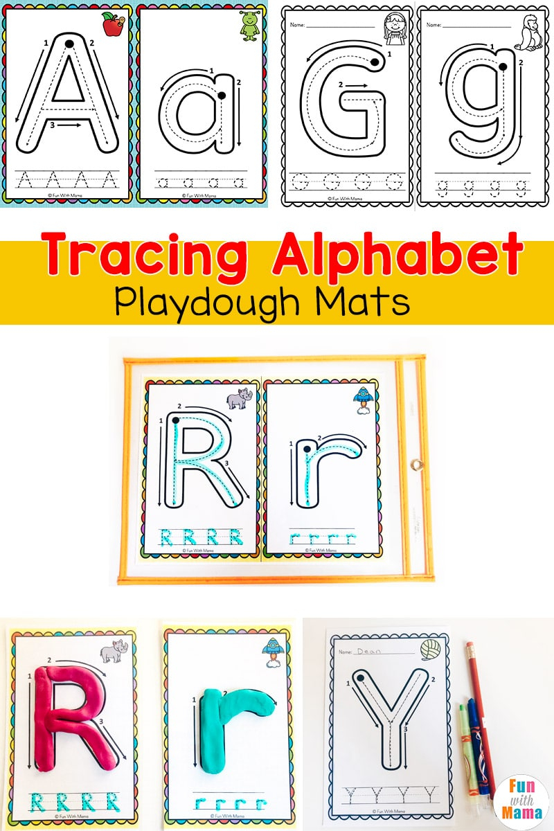 Alphabet Tracing Playdough Mats - Fun With Mama throughout Benefits Of Name Tracing