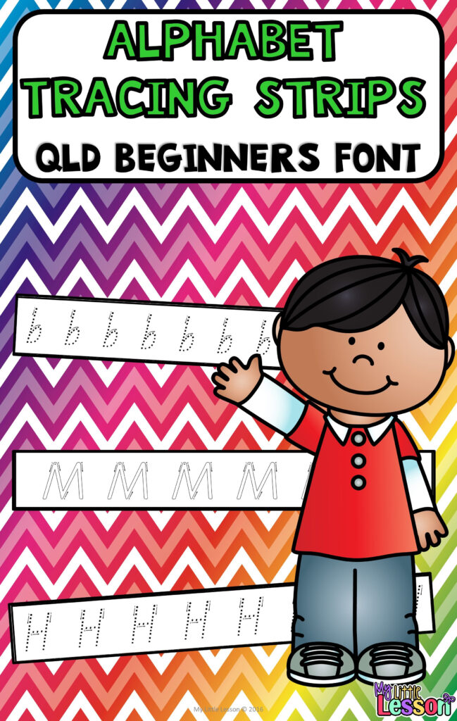 Alphabet Tracing Strips Qld Beginners Font | Alphabet Throughout Queensland Alphabet Tracing
