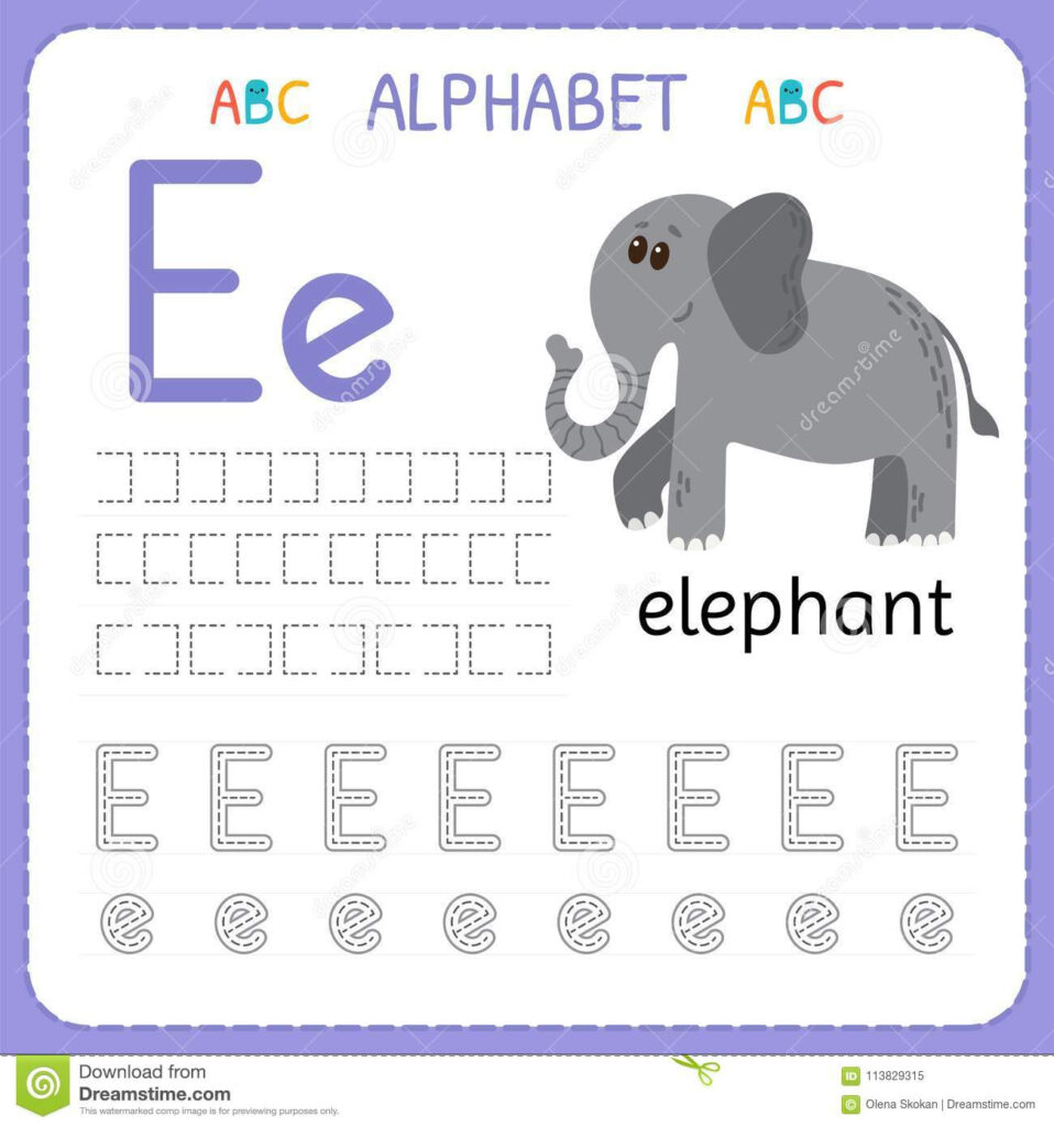 Alphabet Tracing Worksheet For Preschool And Kindergarten In Alphabet Tracing Guide
