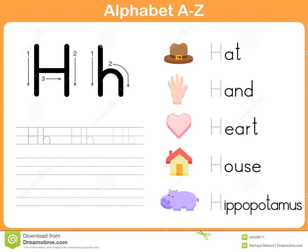 Alphabet Tracing Worksheet Stock Vector   Image: 44028511 For Alphabet Tracing Online