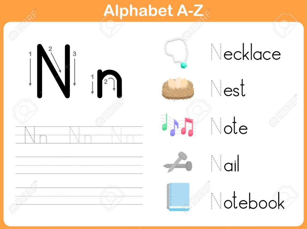 Alphabet Tracing Worksheet: Writing A Z For A Z Alphabet Tracing