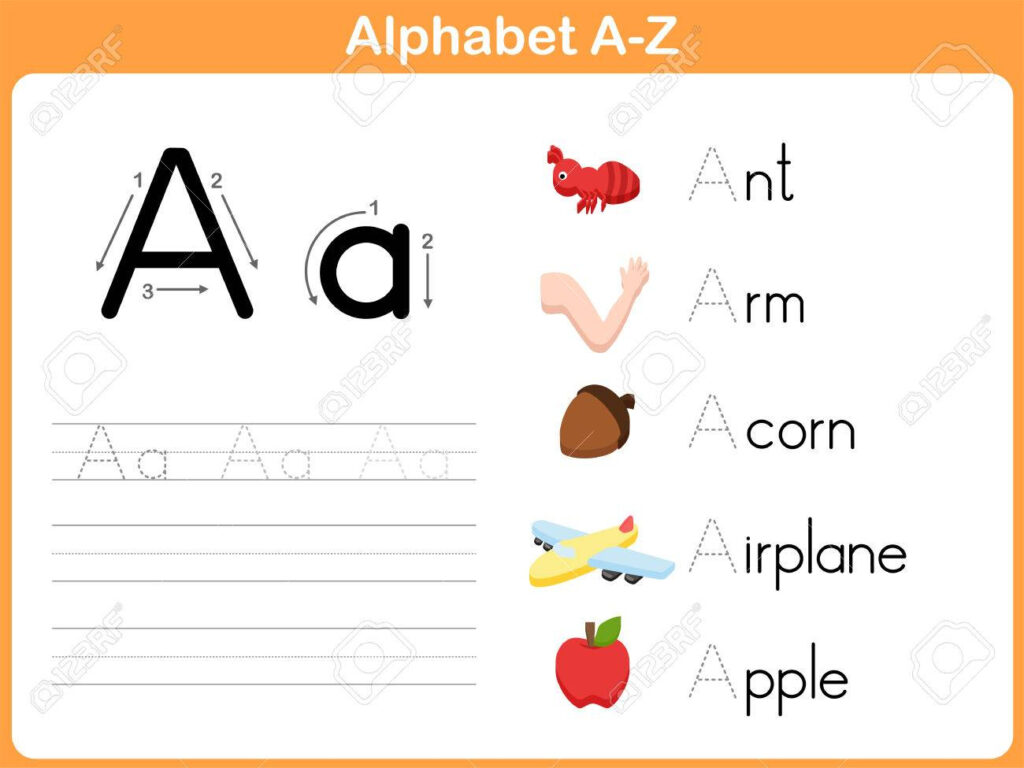 Alphabet Tracing Worksheet: Writing A Z With A Z Alphabet Tracing