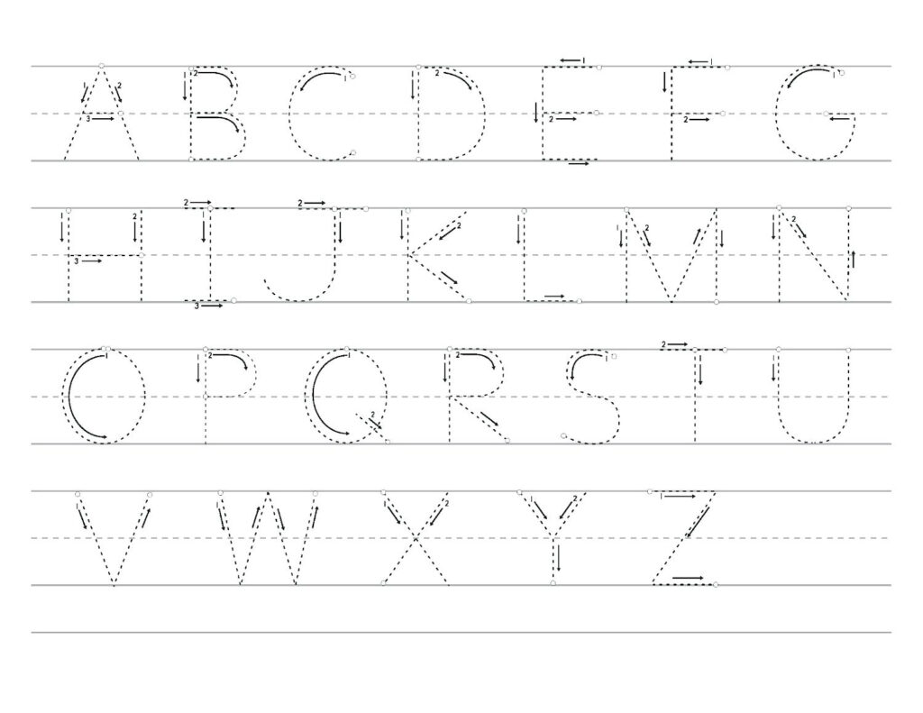 Alphabet Tracing Worksheets Free Alphabet Worksheets New Intended For Uppercase Alphabet Tracing
