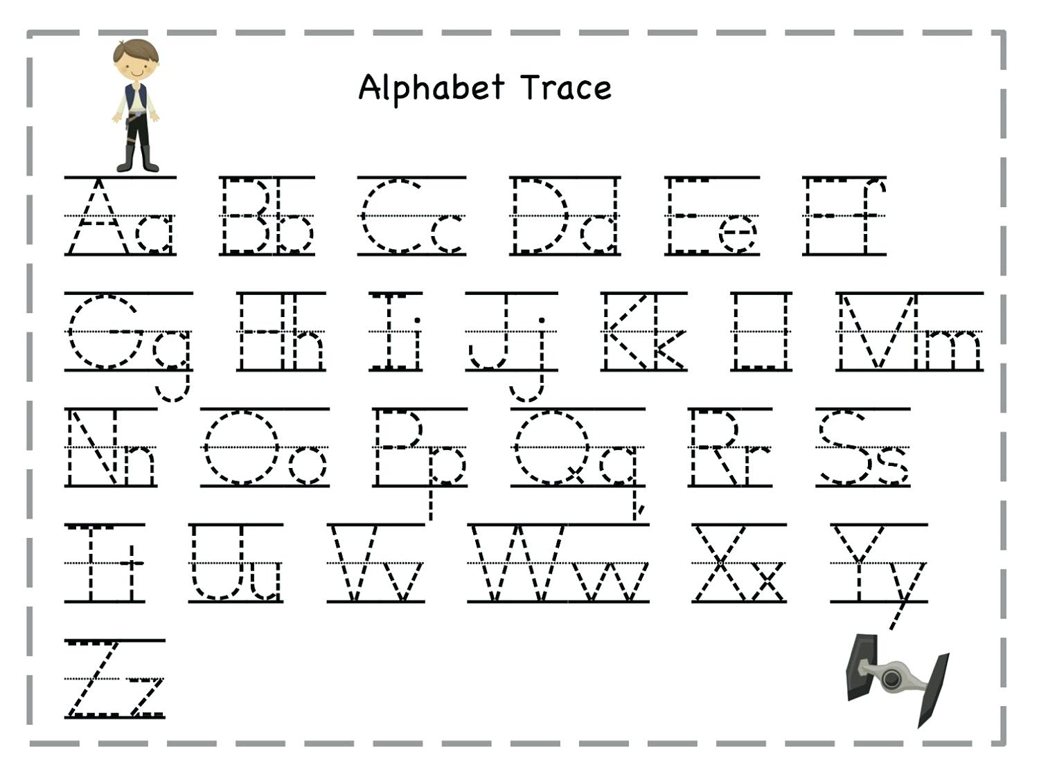 Alphabet Tracing Worksheets Free Free Collection Of Letter A regarding Alphabet Tracing Templates Free