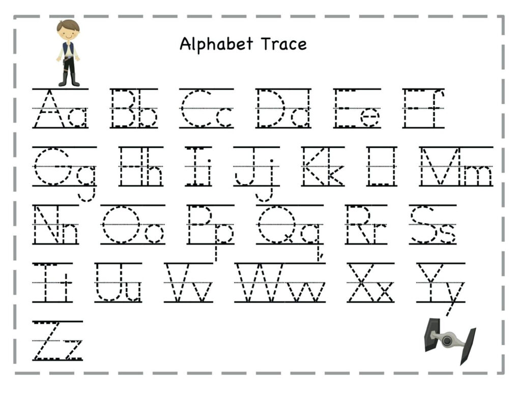 Alphabet Tracing Worksheets Free Free Collection Of Letter A With Regard To Alphabet Tracing Printables Free