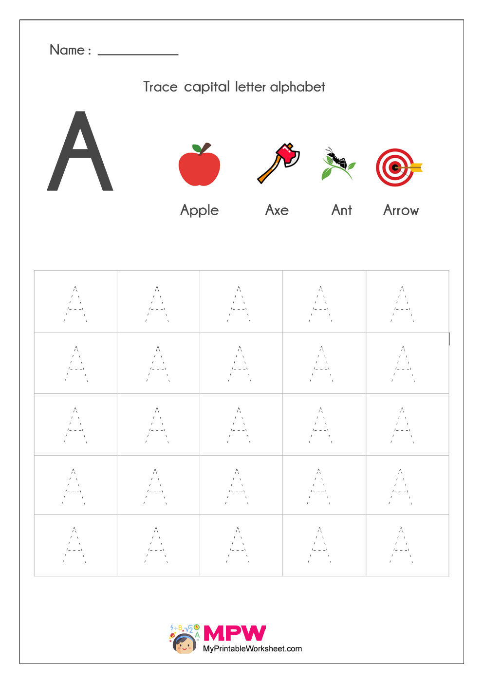 Alphabet Tracing Worksheets, Printable English Capital with regard to Alphabet Tracing Worksheets Lowercase