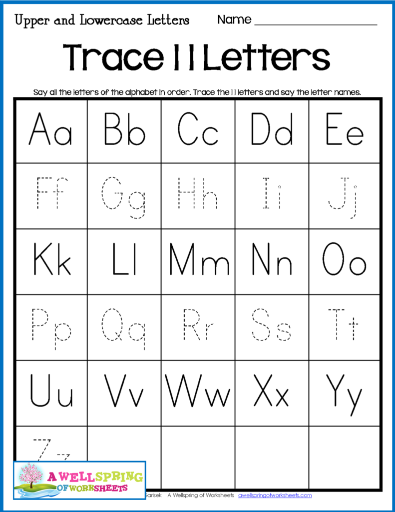 Alphabet Tracing Worksheets   Uppercase & Lowercase Letters Intended For Alphabet Tracing Uppercase And Lowercase