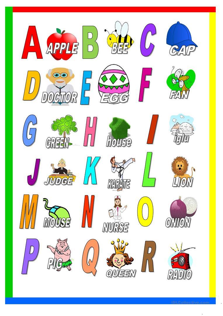 Alphabet Vocabulary - English Esl Worksheets For Distance intended for Alphabet Vocabulary Worksheets