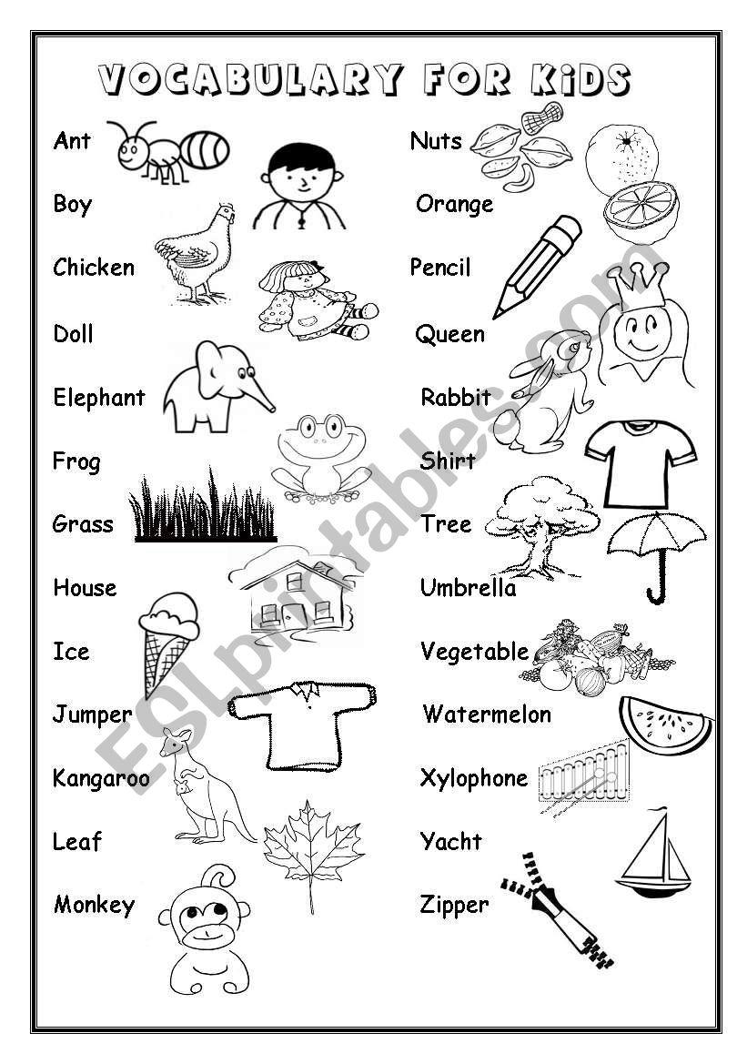 Alphabet Vocabulary - Esl Worksheetiamirish21 regarding Alphabet Vocabulary Worksheets