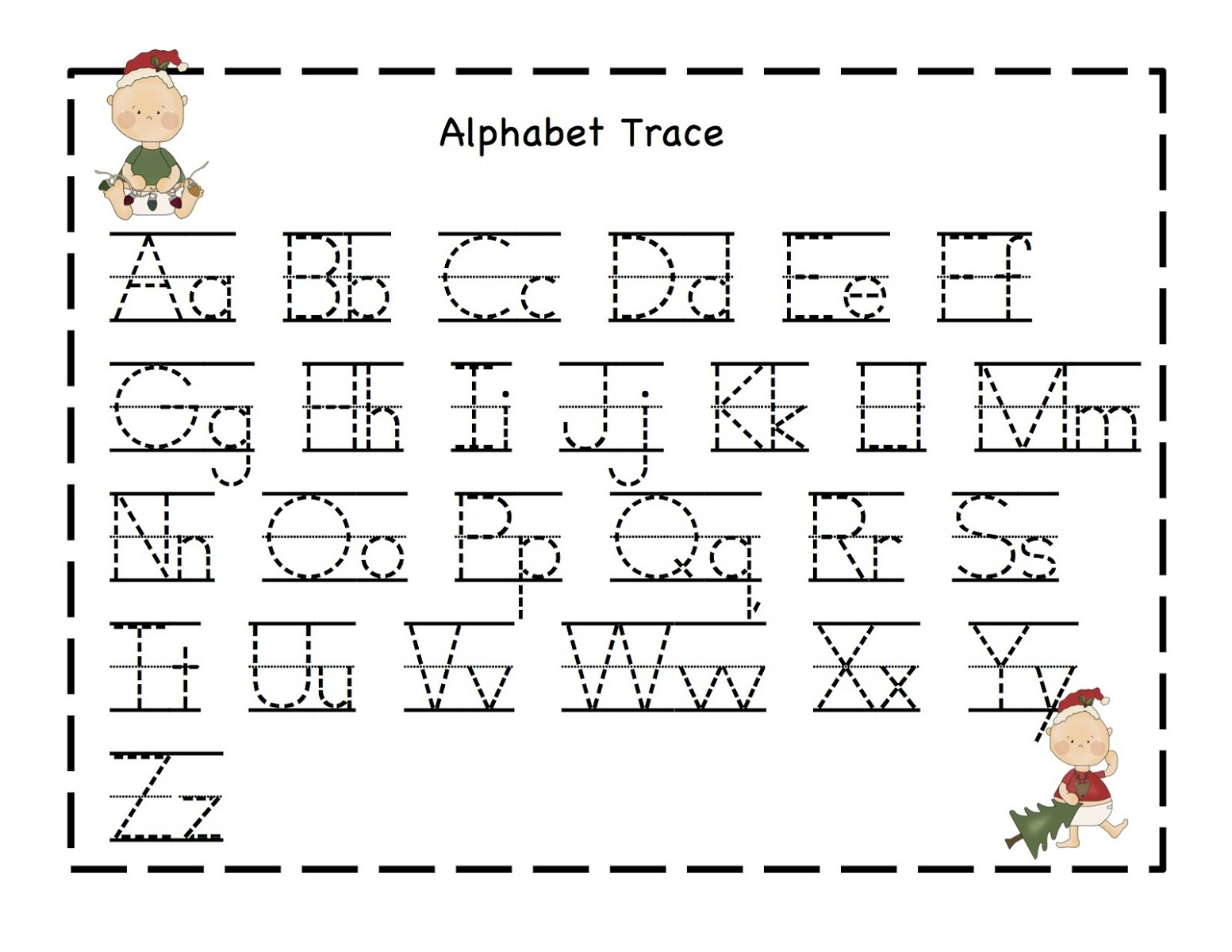 Alphabet Worksheets - Best Coloring Pages For Kids regarding Alphabet Tracing And Coloring Pages