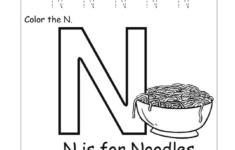 Letter N Worksheets For Preschool