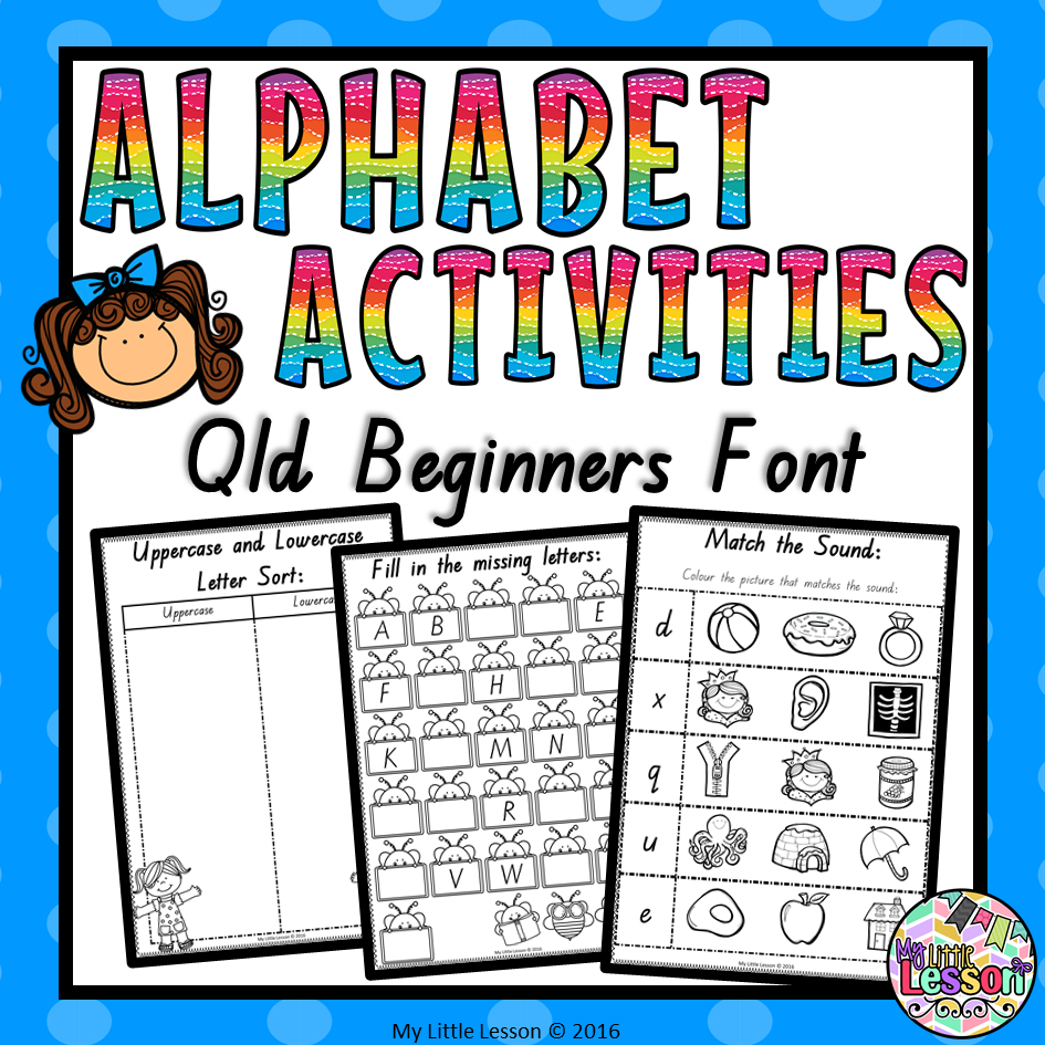 Alphabet Worksheets Qld Beginners Font throughout Queensland Alphabet Tracing
