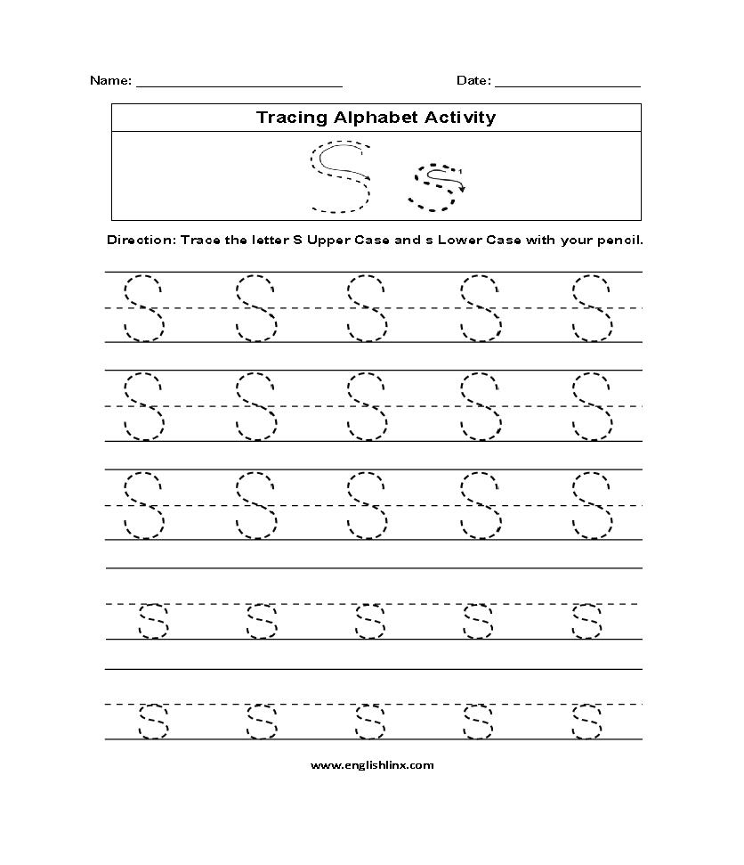 Alphabet Worksheets | Tracing Alphabet Worksheets in Letter S Worksheets Pdf