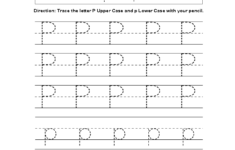 Letter P Tracing Sheet