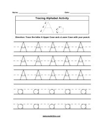 Alphabet Worksheets | Tracing Alphabet Worksheets intended for Alphabet Tracing For Grade 1