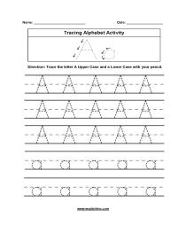 Alphabet Worksheets | Tracing Alphabet Worksheets with Letter Worksheets A