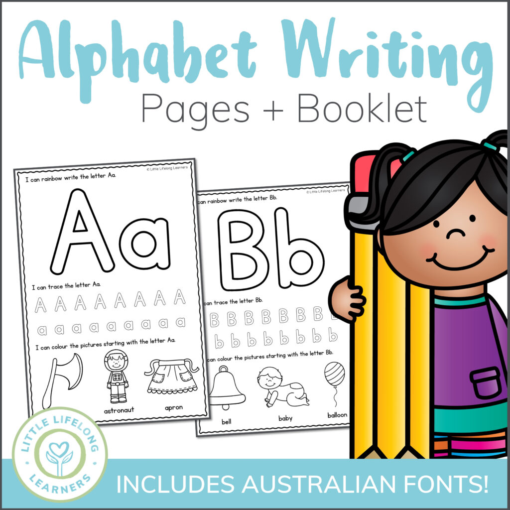 Alphabet Writing Worksheets Within Alphabet Tracing Qld