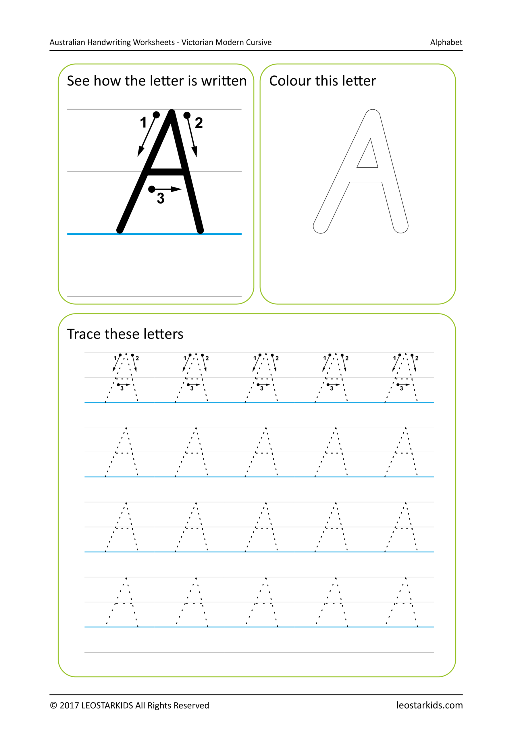 Australian Handwriting Worksheets - Victorian Modern Cursive pertaining to Name Tracing Template Qld Font