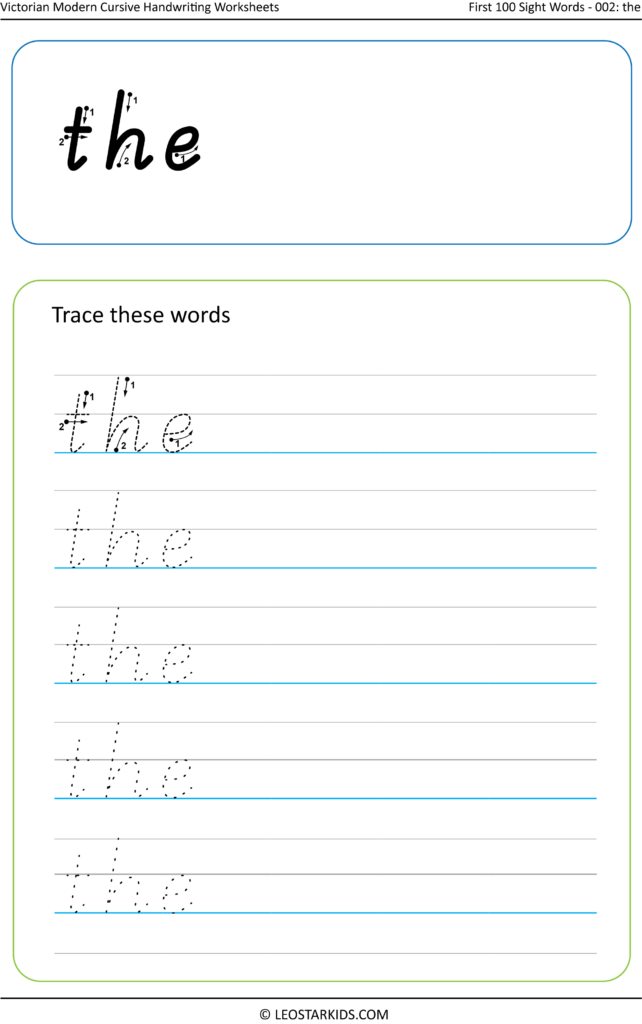 Australian Handwriting Worksheets – Victorian Modern Cursive With Regard To Victoria Name Tracing