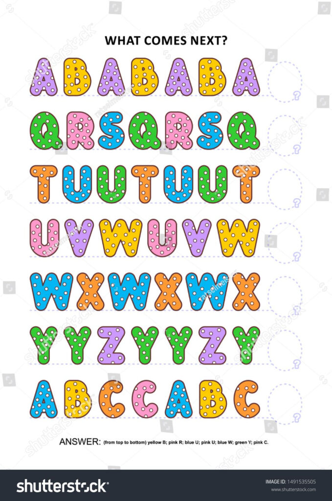 Basic Skills Practice Logic Game With Alphabet Letters With Letter Logic Worksheets Answers