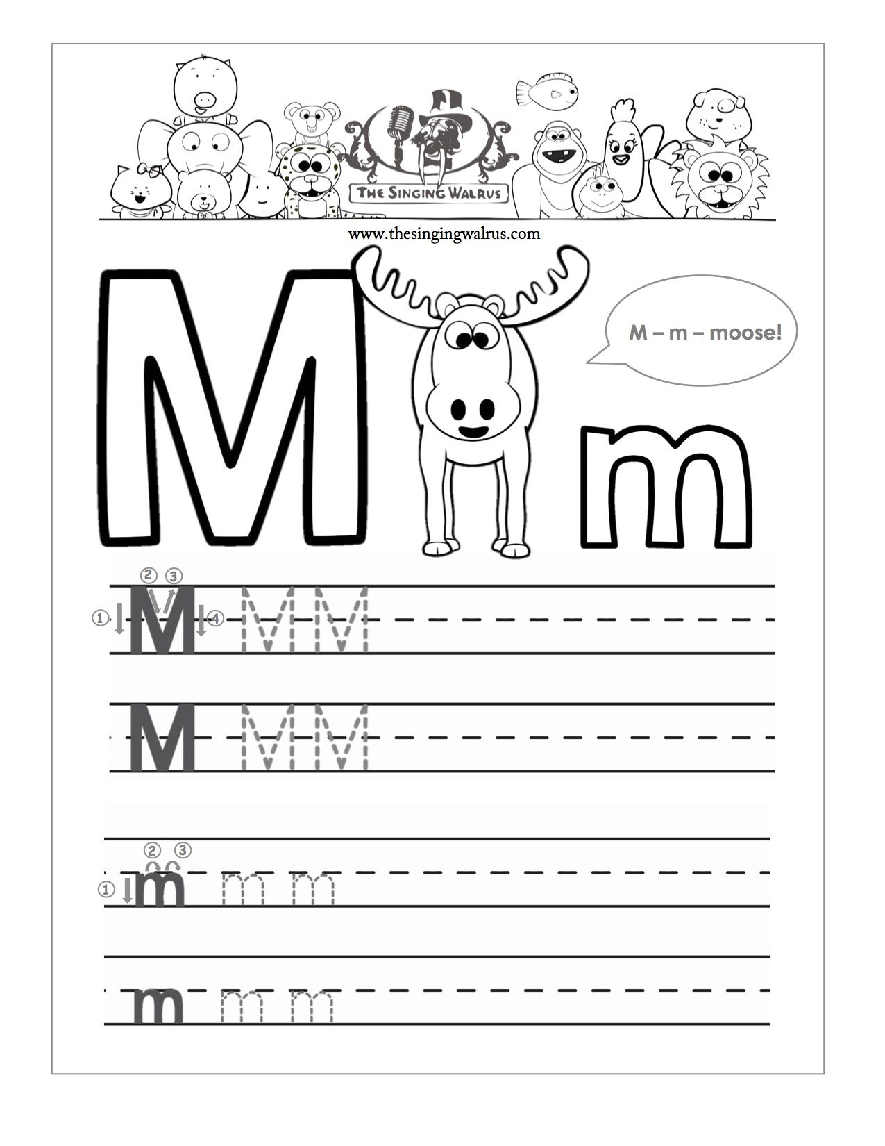 Beautiful Letter M Writing Worksheet | Educational Worksheet throughout Letter M Tracing Worksheets Preschool