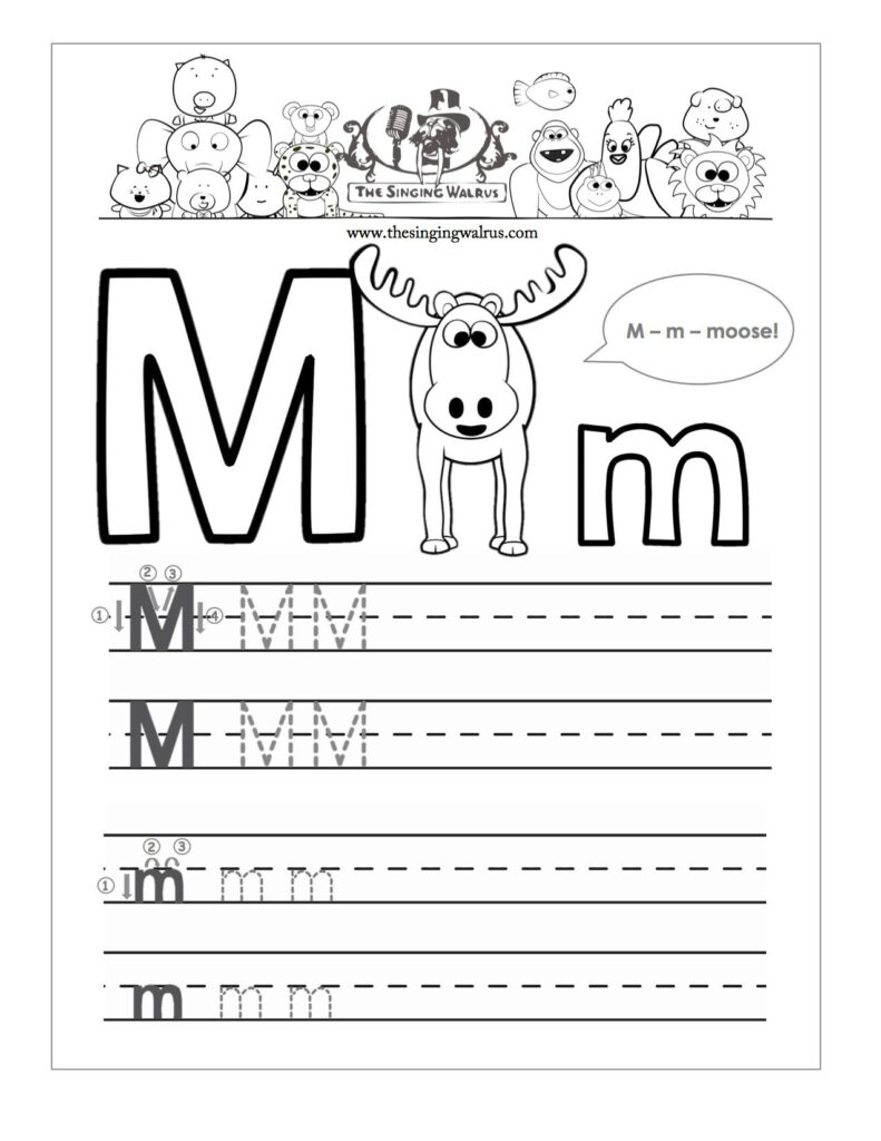 Beautiful Letter M Writing Worksheet | Educational Worksheet Throughout Letter M Worksheets For Kindergarten