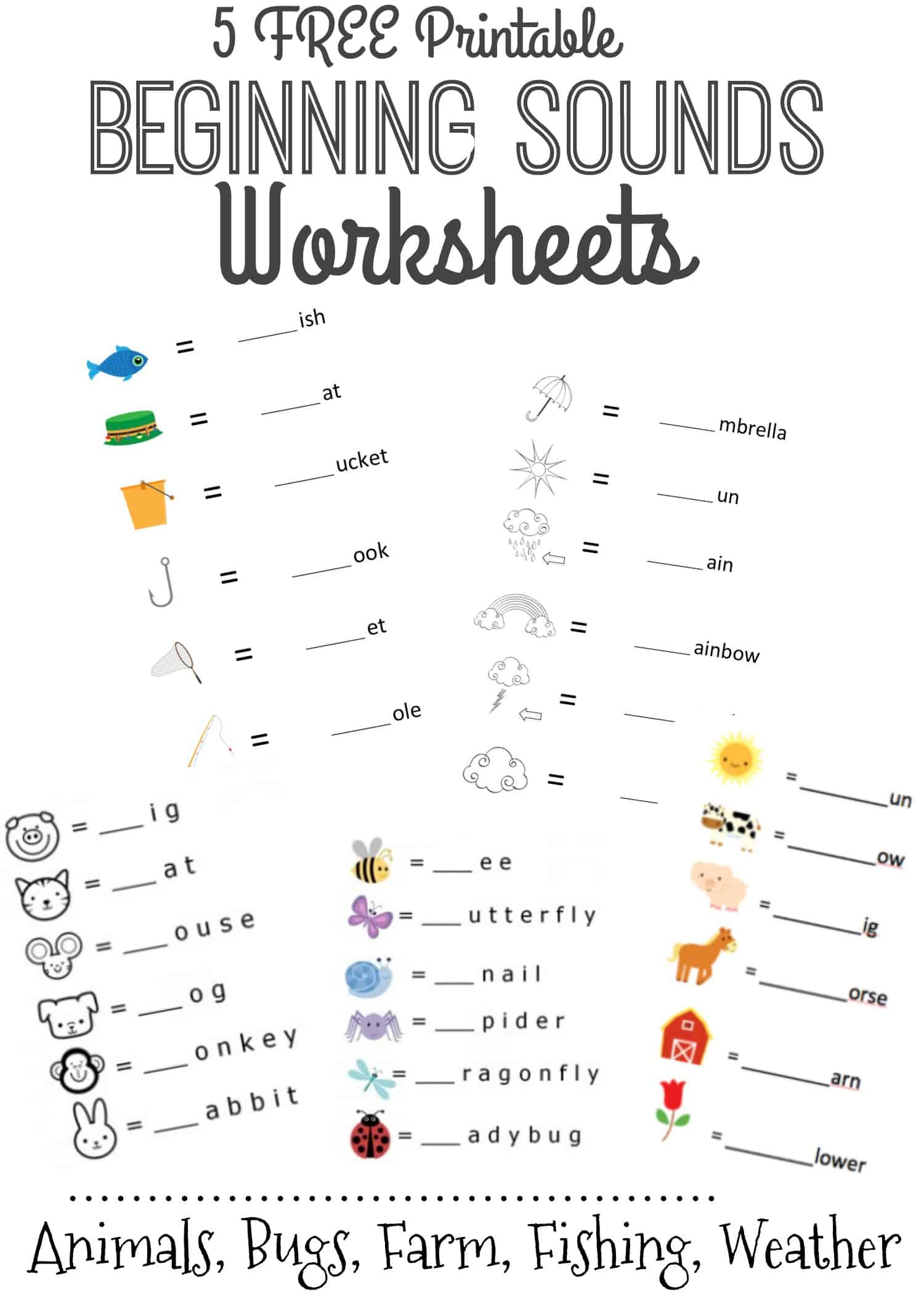 Beginning Sounds Letter Worksheets For Early Learners throughout Letter A Worksheets Free Printables
