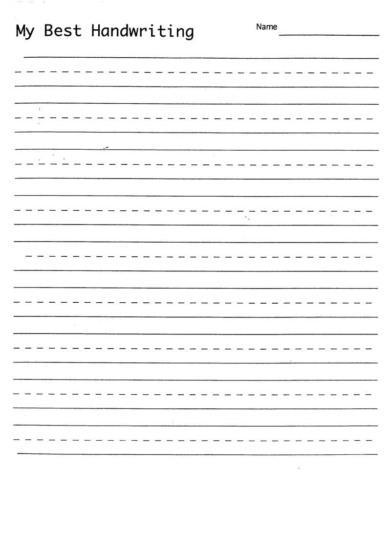 Blank Hand Writing Sheet | Handwriting Practice Sheets, Free throughout Name Tracing Template Blank