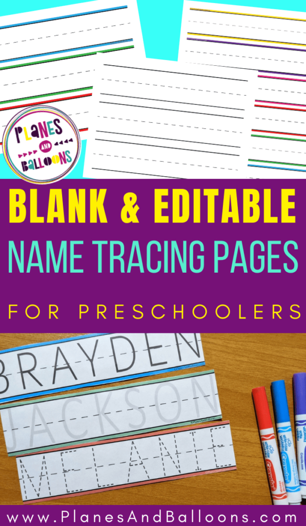 Blank Name Tracing Worksheets For Preschool   Editable Pdf With Regard To Editable Name Tracing Preschool