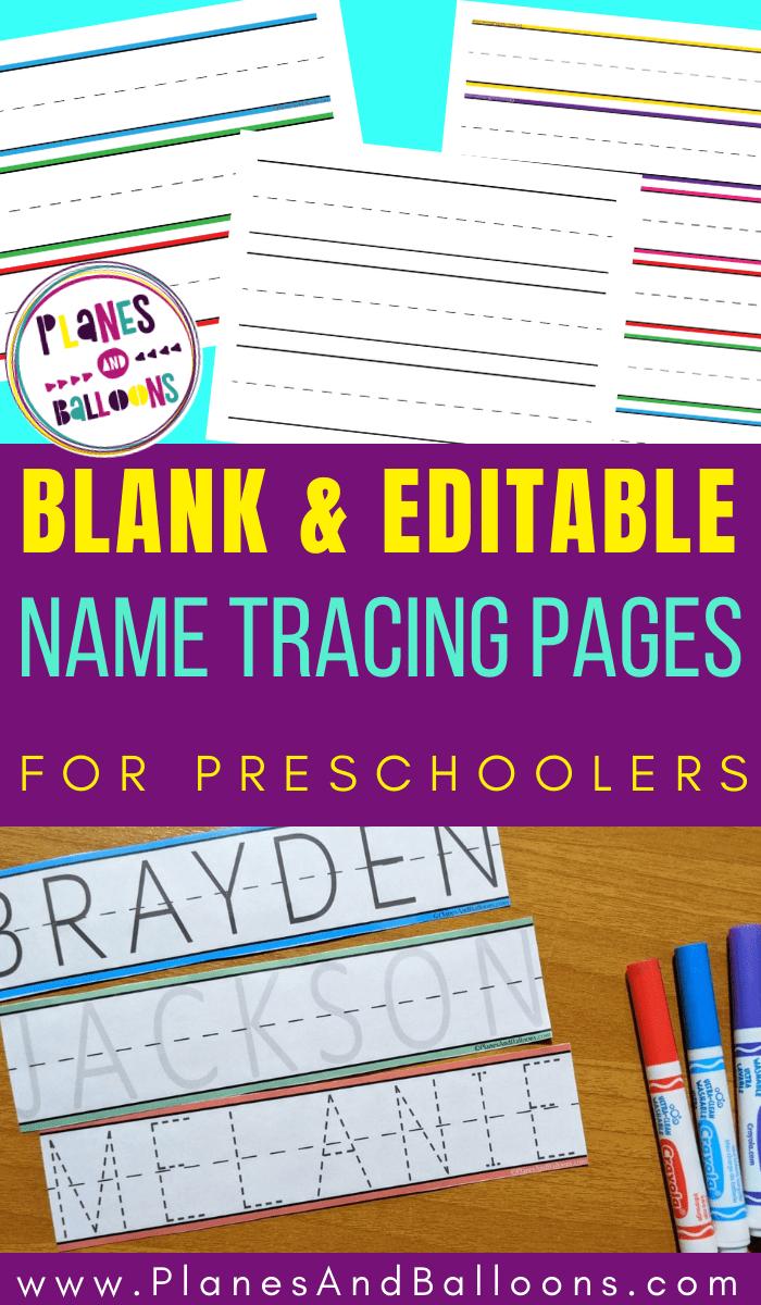 Blank Name Tracing Worksheets For Preschool - Editable Pdf with regard to Editable Name Tracing Preschool