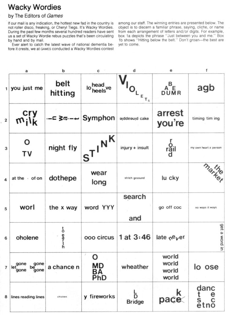 Brain Teasers: Wackie Wordies | Brain Teasers, Word Puzzles With Regard To Letter Logic Worksheets Answers
