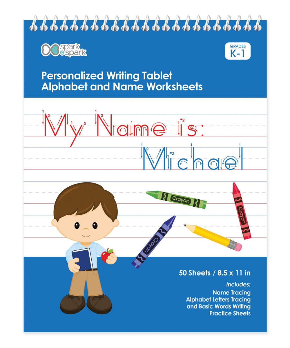 Brown-Haired Boy Personalized Writing Practice Tablet regarding Alphabet Tracing Tablet