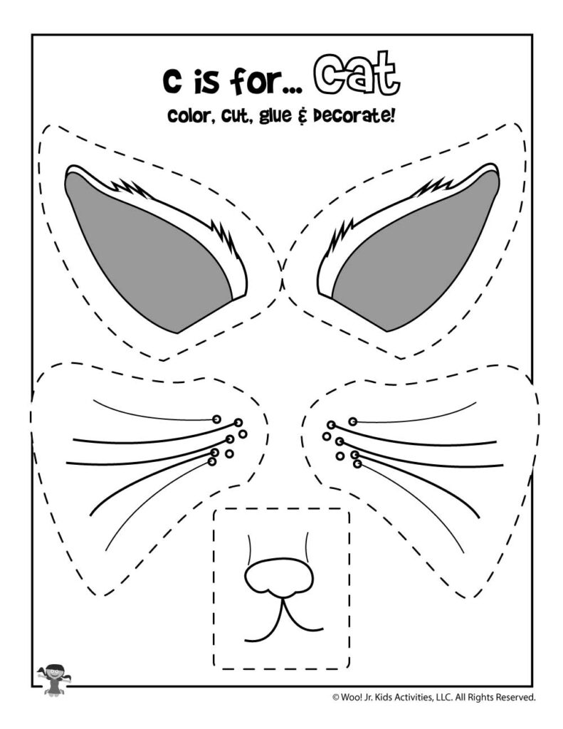 C Is For Cat   Color, Cut And Paste | Woo! Jr. Kids Activities With Letter C Worksheets Cut And Paste