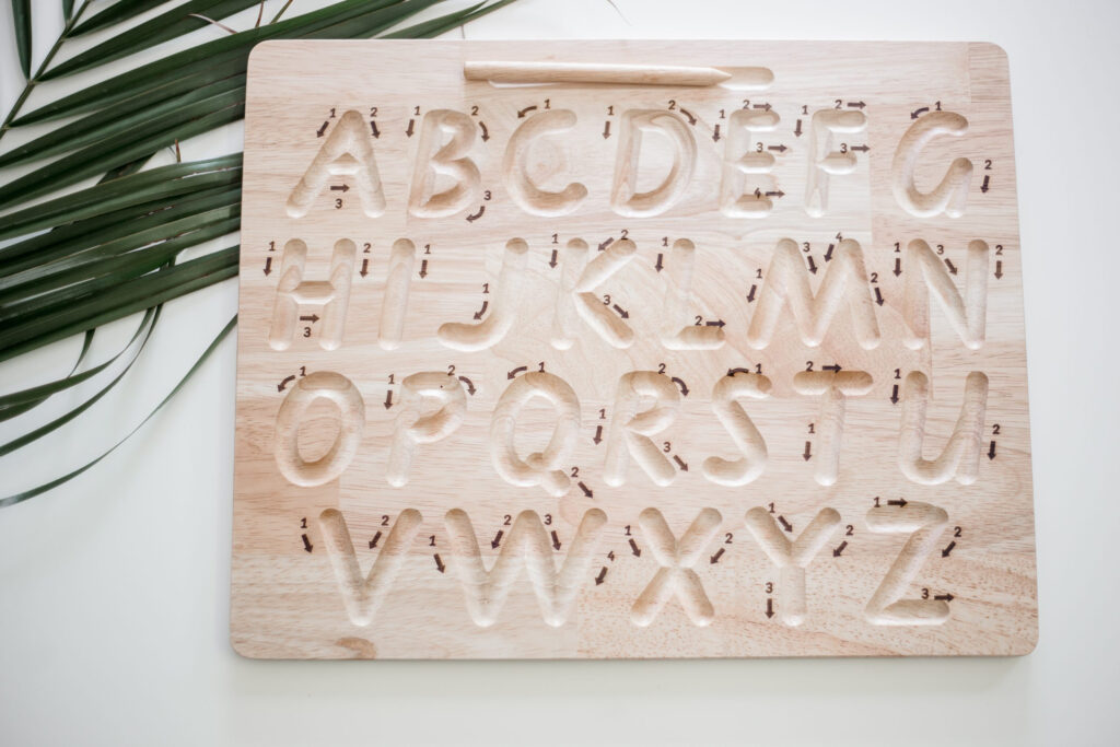Capital Letter Tracing Board Pertaining To Q Toys Alphabet Tracing