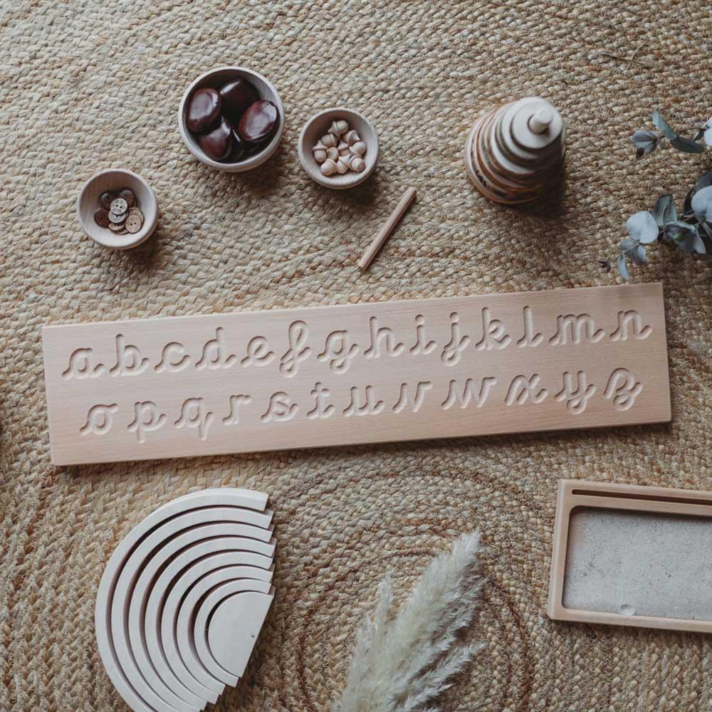 Coach House Cursive Alphabet Tracing Board inside Alphabet Tracing Board