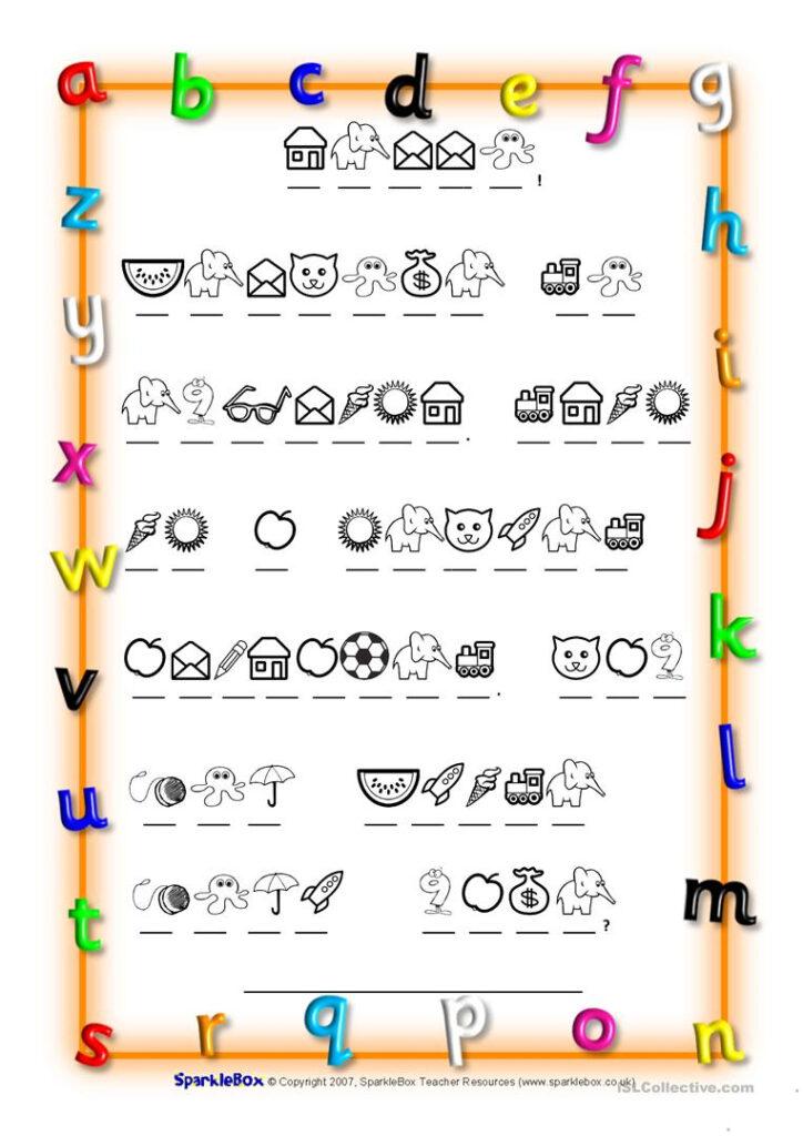 Code Breaker Alphabet   English Esl Worksheets For Distance In Alphabet Code Worksheets