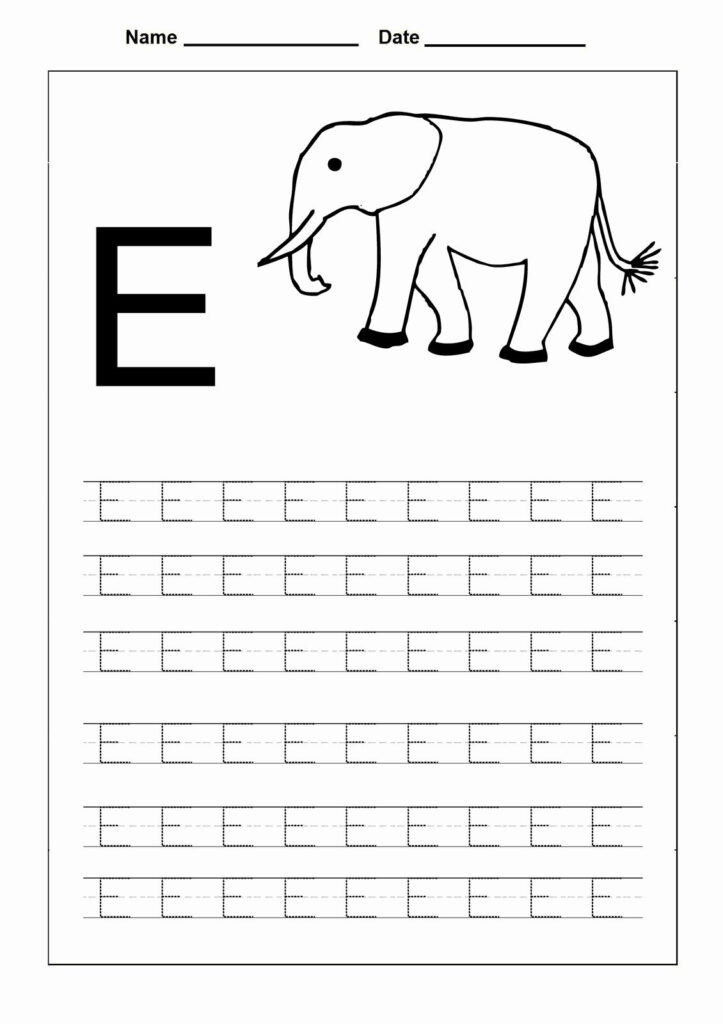 Coloring Capital Letters Print In 2020 | Letter E Worksheets In Alphabet E Tracing Worksheets