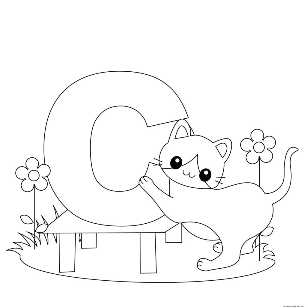 Coloring Pages : Alphabet Coloring Pages For Toddlers Throughout Alphabet Coloring Worksheets For Preschoolers