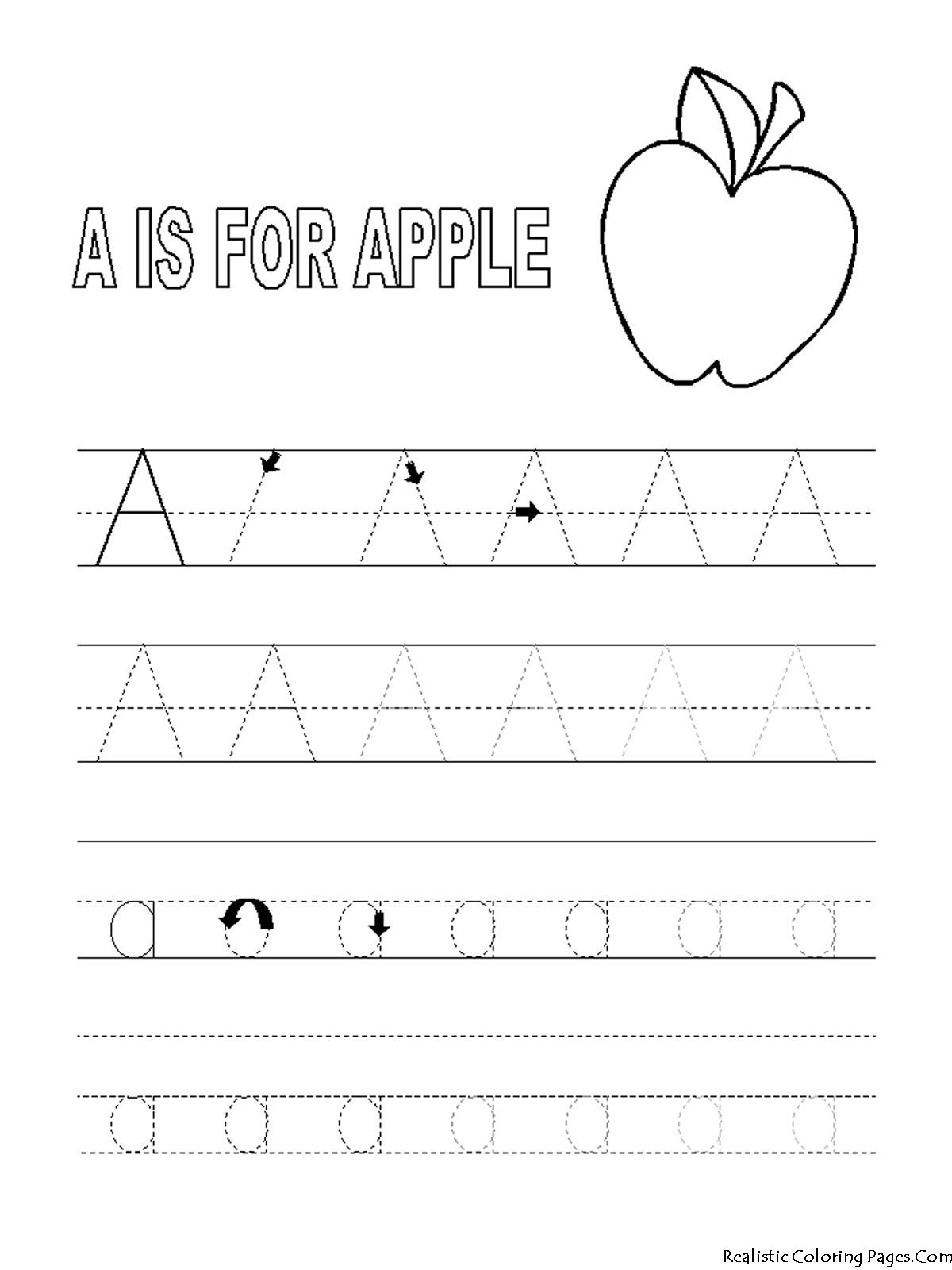 Coloring-Pages-Preschool-Abc-Printables | Preschool Tracing for Alphabet Tracing Coloring Worksheets