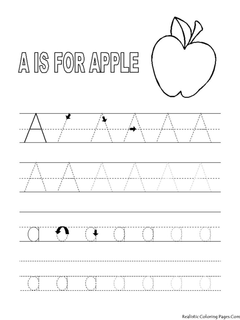 Coloring Pages Preschool Abc Printables | Preschool Tracing With Regard To Alphabet Tracing And Coloring Pages