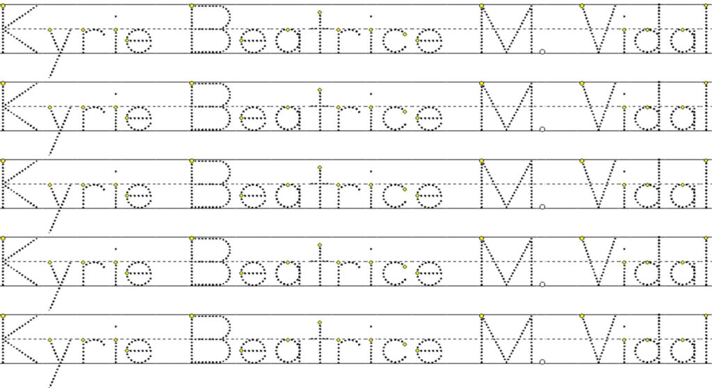 Create A Worksheet With A Personalized Tracing Namemiss Bebz Intended For Create A Tracing Name