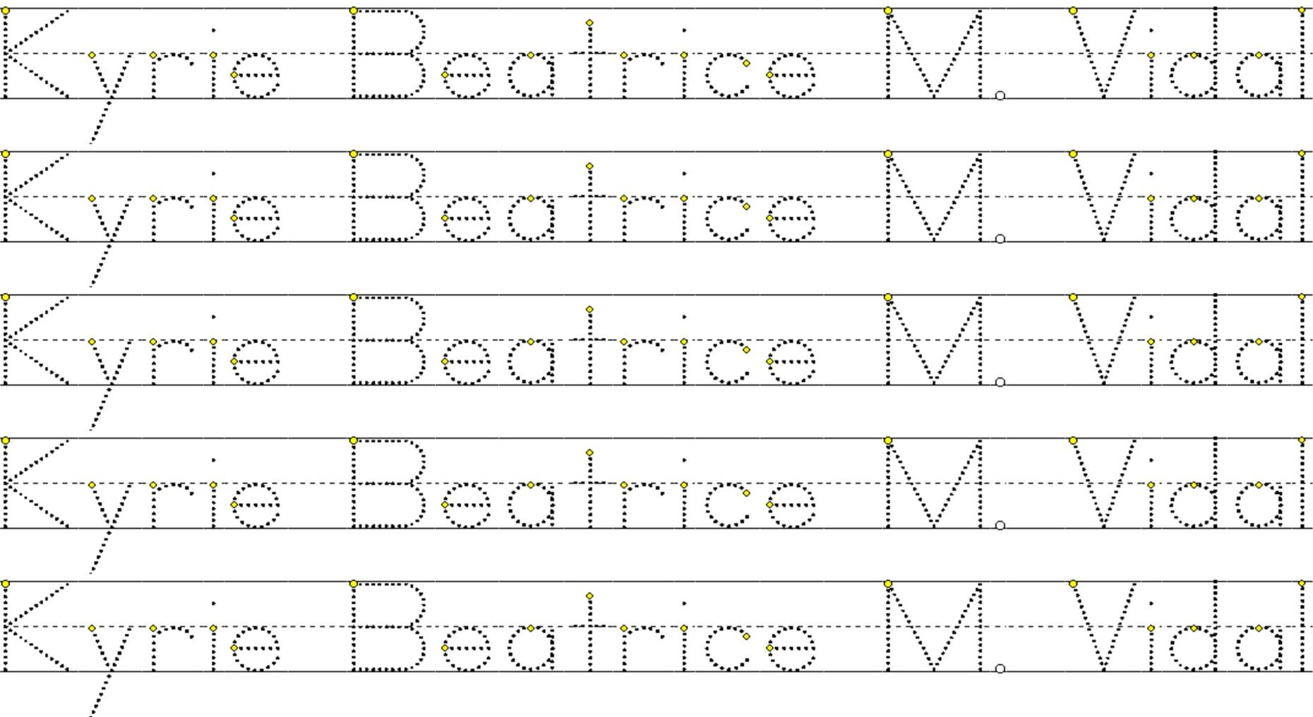 Create A Worksheet With A Personalized Tracing Namemiss_Bebz intended for Create A Tracing Name